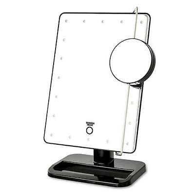 Sharper Image LED Touch Mirror with Vanity Tray in White