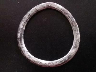 24.5mm Authentic Ancient CELTIC Bronze Ring Money Sandy Patina ~600 BC #17