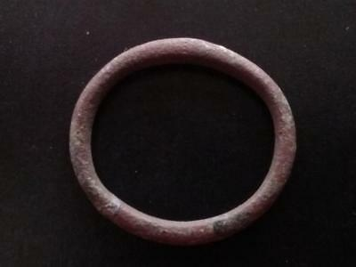22mm Authentic Ancient CELTIC Bronze Ring Money ~600 BC #15