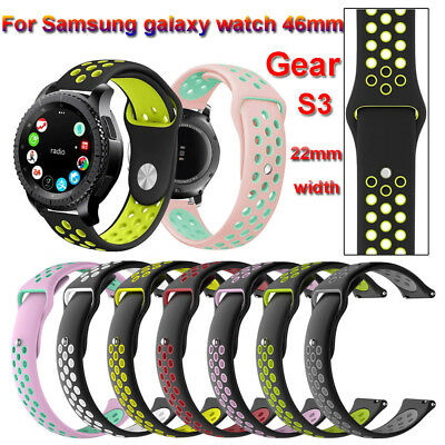 Silicone Band Bracelet Watch Strap 22mm For Samsung Galaxy Watch 46mm Gear S3
