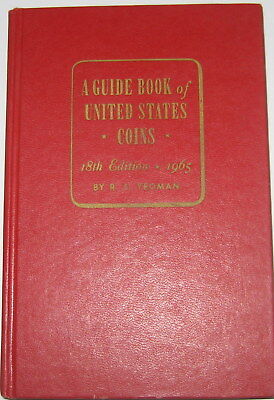 """1965 GUIDE BOOK OF UNITED STATES COINS 18th EDITION """"REDBOOK"""" BY R. S. YEOMAN"""