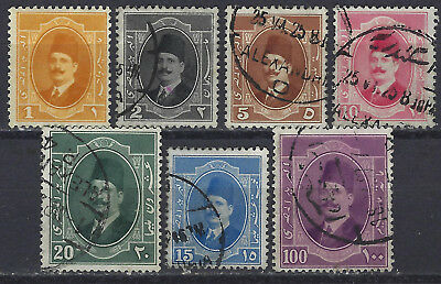 EGYPT – 1923 King Fuad (from Sc 92-101) most used, 1m MLH