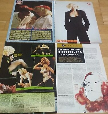 Rare Madonna Spanish magazine & newspaper Clippings /Poster collection 80s-00s