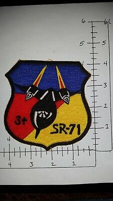 Large Vintage Usaf Asian Made Sr-71 Squadron Patch
