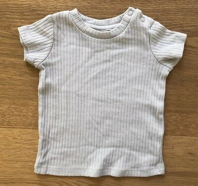 Seed Baby Grey Cotton Polyester Rib T-Shirt Size 0