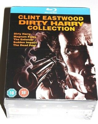 Dirty Harry Collection (Blu-ray, 2009, 5-Disc Set, Box Set) Brand New & Sealed