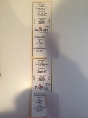 2 (two) six flags great adventure tickets- good until 1/1/2019