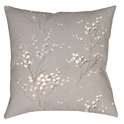 DESIGNER CUSHION COVER made frm LAURA ASHLEY ''Pussy Willow Steel Floral''Fabric