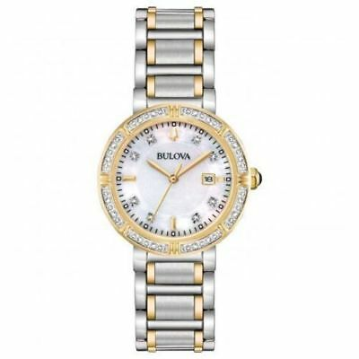 Bulova 98R260 Women's 30mm Quartz Diamond Accent Two-Tone Watch P/O 2