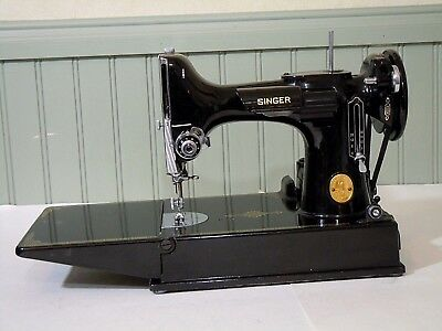 1949 SINGER FEATHERWEIGHT SEWING MACHINE- w/Case - Accessories- Pedal Switch