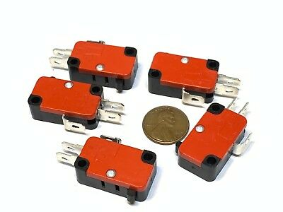 5 Pieces Bump Micro Limit Switch with no Lever v-15-1c25 15A 125/250VAC A14