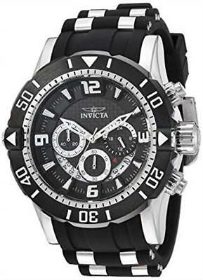 INVICTA Men's Pro Diver 23696 50mm Stainless and Black Chronograph Watch