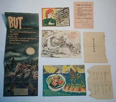 Lot of WW2 Japanese Propaganda Leaflet surrender Australian US WWII Vtg original