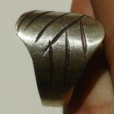 EXTREMELY Ancient VIKING SILVER Ring museum quality artifact VERY Stunning RARE