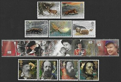 GB. 1992. 3 SETS OF COMMEMORATIVE STAMPS. MNH. FACE VALUE £3.86p.