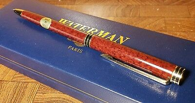 Excellent Vintage NOS Watermans Marbled Red Mechanical Pencil in Box