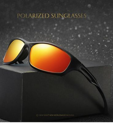 3b1026d2469 New Red Mirror Polarized Mens Glasses Wrap Tr90 Frame Sports Driving  Sunglasses