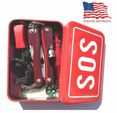 Help Camping Kit Outdoor Survival Emergency Box SOS Tools Set Hiking Sport Gear