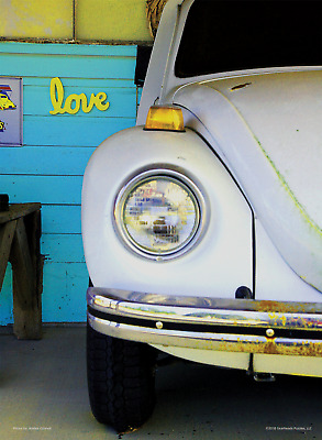 Love Bug - 500 pc premium collector's edition jigsaw puzzle featuring VW beetle
