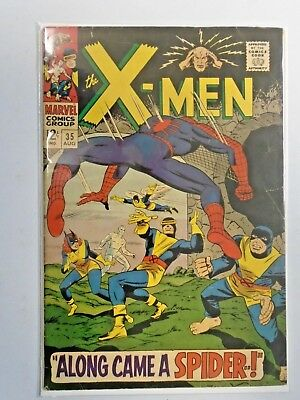 X-men #35 - Spider-Man appearance - First 1st Series - see pics - 4.5 - 1967