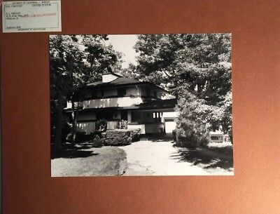 Original Photo UC Berkeley  Architecture - FRANK LLOYD WRIGHT Kier House