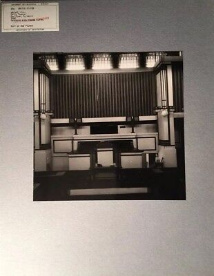 Original Photo UC Berkeley  Architecture - FRANK LLOYD WRIGHT Unity Temple