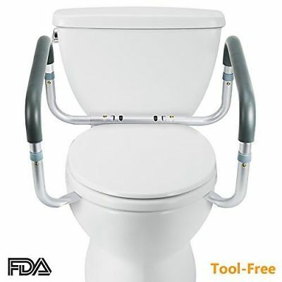 OasisSpace Medical Toilet Safety Frame - Adjustable Compact Support Hand Rails