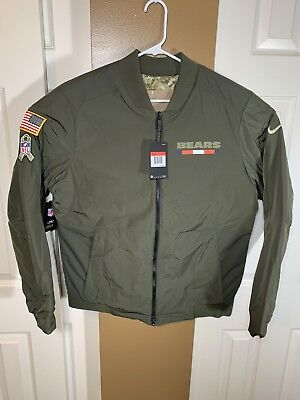 8ce0ee6693a Nike Men's Chicago Bears Salute to Service Reversible Bomber Jacket Sz.  Large