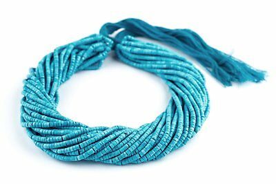 Baby Blue Turquoise Cylinder Beads 2x3mm Afghanistan Gemstone 15 Inch Strand