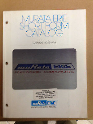 Muriata Erie Short Form Catalog No. G-01-A, Electronic Component