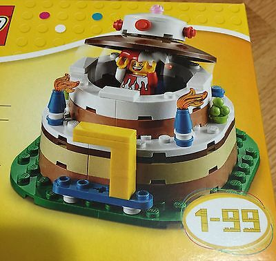 Lego Birthday Cake Top Table Decoration 40153 Jester Minifigure Party NEW