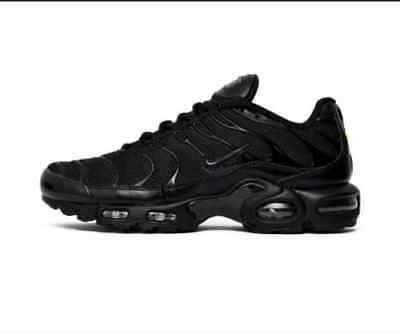 NIKE AIR MAX PLUS TN TRAINERS Black Shoes Brand New Limited Offer!