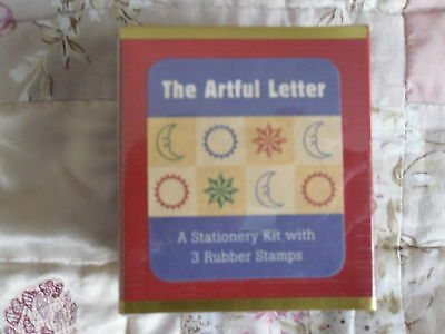 The Artful Letter Stationery Kit With 3 Rubber Stamps