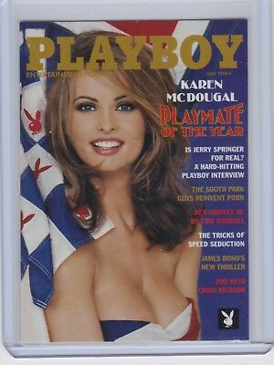 KAREN McDOUGAL Playboy Collector (1of6) GOLD CHASE #1PY Playmate of the Year HOT