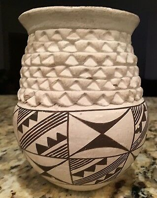 LUCY M. LEWIS Acoma Pottery Pot No Reserve Needs Restoration