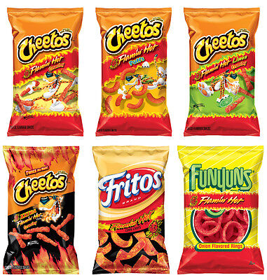 CHIPS CHEETOS FLAMIN HOT CHEDDAR JALAPENO CRUNCHY DINAMITA 9.5oz PICK One