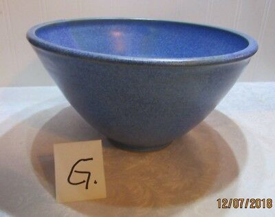 Nice Large Art Pottery speckle Blue Glaze Bowl Stoneware hand made