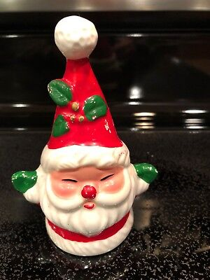 Vintage Josef Originals Ceramic Santa Claus Christmas Bell