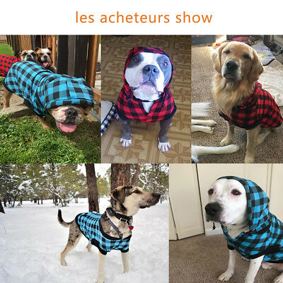 Large Size Dog Clothes XL Costume Warm Removable Hoodie Winter Outdoor Jacket