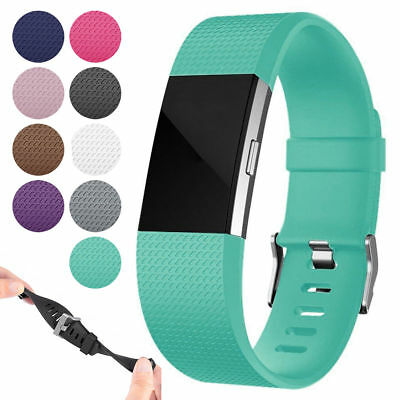 For Fitbit Charge 2 / 2 HR Replacement Bracelet Silicone Wrist Watch Band Strap
