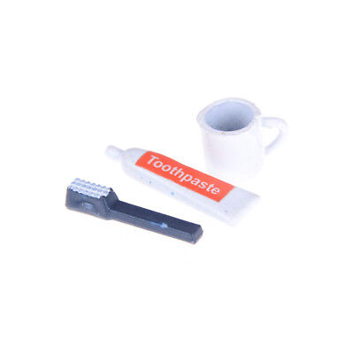 Miniature Toothbrush Set  for 1:12 Scale Dollhouse Bathroom Accessories JB