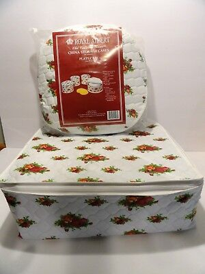 Royal Albert Old Country Roses Zipper Storage Bags for Plates + Cups (damaged)