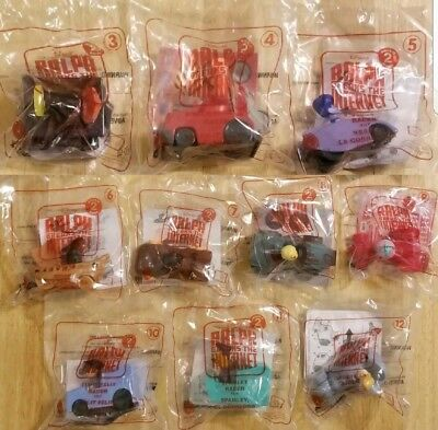 McDONALD'S 2018 DISNEY WRECK IT RALPH 2 - LOT OF 10 TOYS. - FREE SHIPPING!!