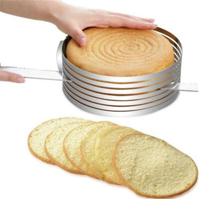 Adjustable Cake Cutter Round Shape Bread Cake Layered Slicer Mold Ring Tools AU