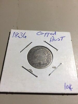 1836 Capped Bust Dime Coin