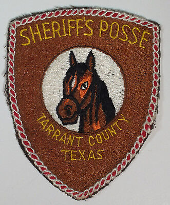 Vintage Fort Worth Sheriff's Posse Shoulder Patch Tarrent County Texas