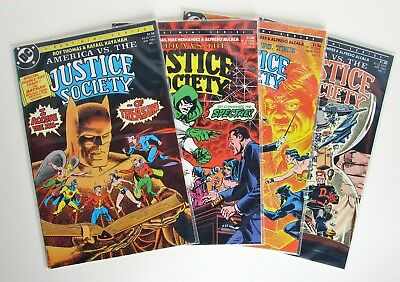DC Comics AMERICA VS THE JUSTICE SOCIETY 1985 Complete 4 Issue Set #1-4