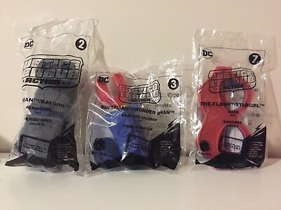 2018 McDonald's(Lot of 3)JUSTICE LEAGUE ACTION Happy Meal Toys #2, #3 & #7 (NIP)