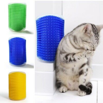 Cat Pet Self Groomer Brush Wall Corner Grooming Massager Comb Cat Toy