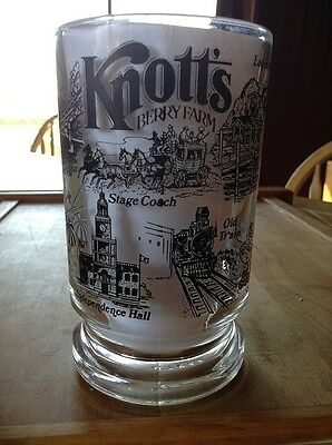 Knotts Berry Farm Glass Mug-Buena Park-Heavy Glass Souvenir-Heavy Beer Mug-Italy